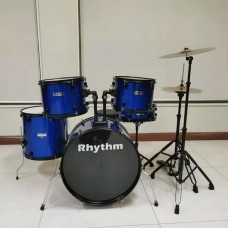 RHYTHM JBP1103 5 PIECE SHELLS FULL SIZE KIT WITH CYMBALS - BLUE