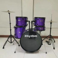 RHYTHM JBP1103 5 PIECE SHELLS FULL SIZE KIT WITH CYMBALS - PURPLE
