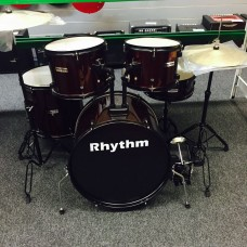 RHYTHM JBP1103 5 PIECE SHELLS FULL SIZE KIT WITH CYMBALS - RED