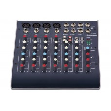 STUDIOMASTER C2S-4 8-CHANNEL ULTRA COMPACT ANALOG CONSOLE MIXER WITH USB, 2 BAND EQ